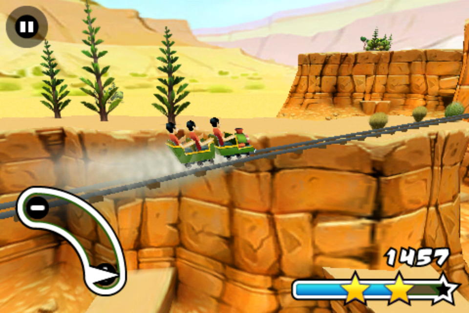 Screenshot 3D Rollercoaster Rush Review